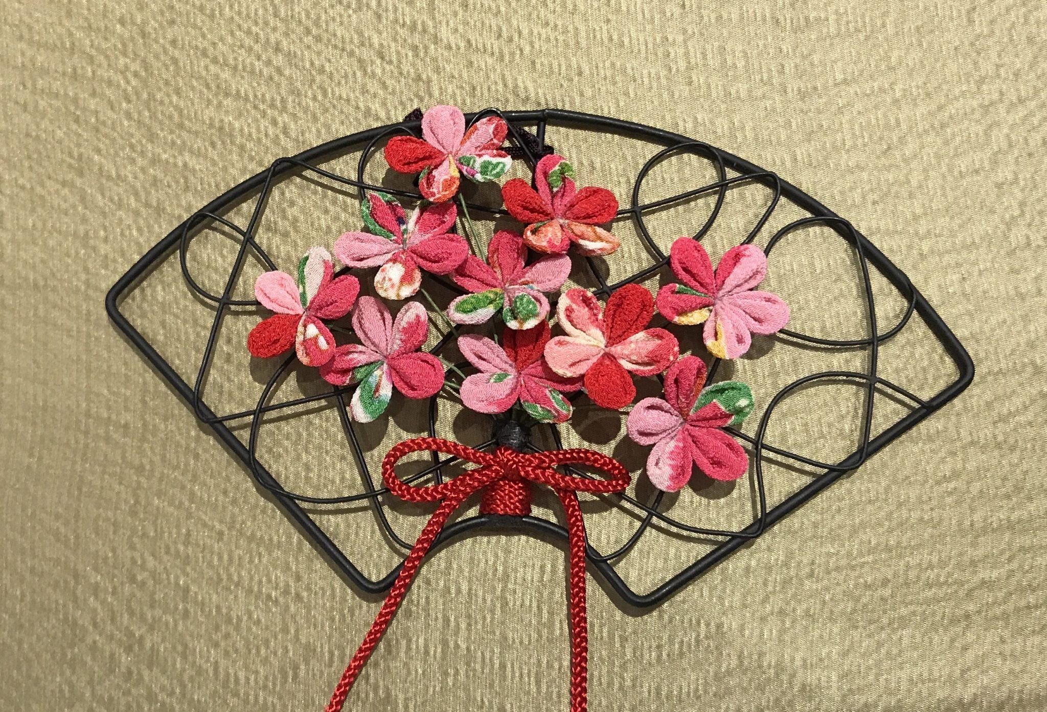 つまみ花扇飾り講習会